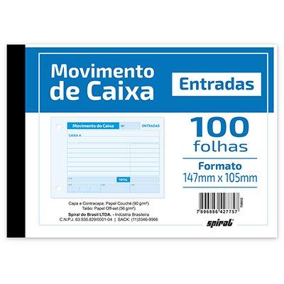MOVIMENTO DE CAIXA ENTRADA 105X147MM 100FLS 203 SPIRAL