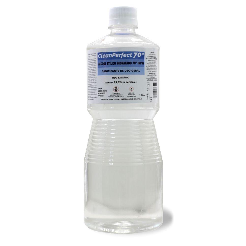 ALCOOL LIQUIDO 70° LIMPEZA HOSPITALAR 1LT CLEAN PERFECT